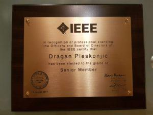Dragan Pleskonjic, IEEE Senior Member